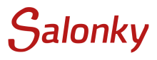 Salonky - logo - red